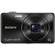 Sony DSC-WX220B Digitalkamera (18 Megapixel, 10-fach opt. Zoom, 6,8 cm (2,7 Zoll) LCD-Display, NFC, WiFi) schwarz
