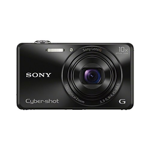 Sony DSC-WX220B Digitalkamera (18 Megapixel, 10-fach opt. Zoom, 6,8 cm (2,7 Zoll) LCD-Display, NFC, WiFi) schwarz 10 Mp, 2.7 Lcd
