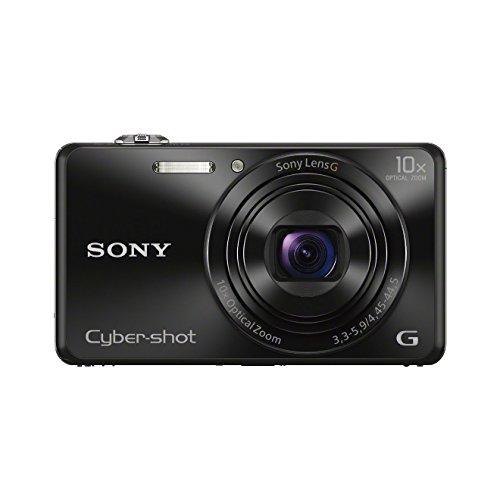 dsc wx 500 Sony DSC-WX220B Digitalkamera (18 Megapixel, 10-fach opt. Zoom, 6,8 cm (2,7 Zoll) LCD-Display, NFC, WiFi) schwarz