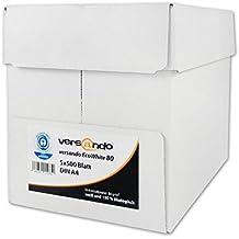 2500 Blatt Papier versando EcoWhite 80 A4 80g weiß Kopierpapier Druckerpapier Laserpapier Faxpapier Duplex