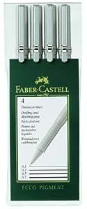 Faber-Castell 0.1mm/ 0.3mm/ 0.5mm/ 0.7mm Artline Drawing System - Black (Wallet of 4)
