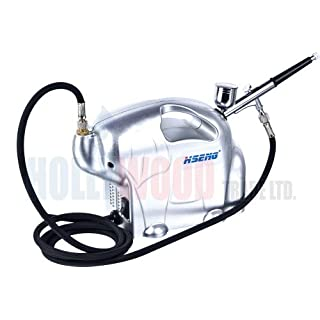 Complete Silent Airbrush Compressor With Airbrush For Hobby Craft, Beauty, Models