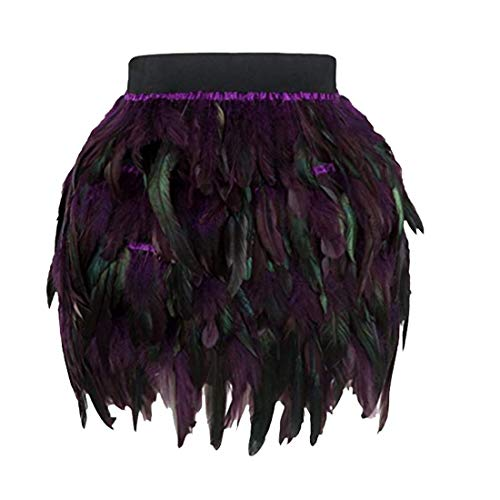 n Halloween Tag Ombre Schloss gedruckt Horrible Schädel Clubbing Party Cosplay Swing Leistung A-Line Rock(Y-Violet,L) ()
