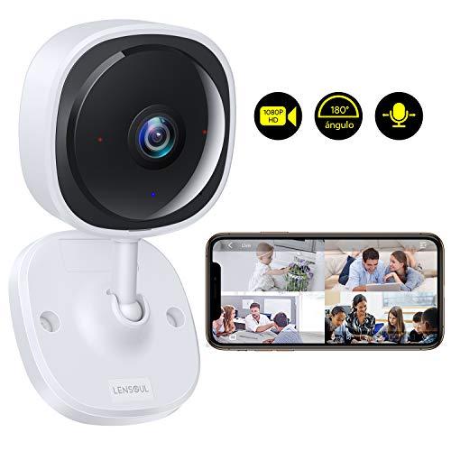 Cámara de Vigilancia Lensoul 1080P HD Cámara IP WiFi inalámbrica para Mascotas...