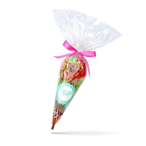Preisvergleich Produktbild Bandarbeit,  300g Süßigkeiten-Tüte mit Bändern,  Schnüren und Fäden aus fruchtig süßem Fruchtgummi