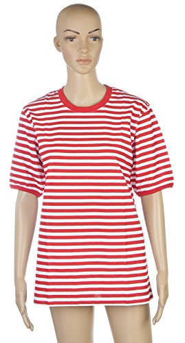 Ramona Lippert Ringelshirt, Kurzarm, rot-weiß oder blau-weiß (Medium, rot-weiß)