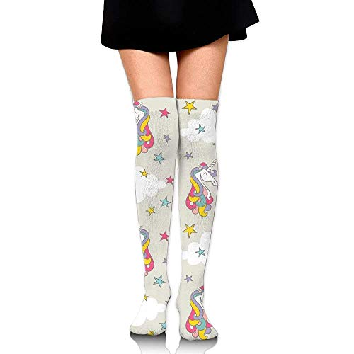 Galleria fotografica Watercolor Unicorns And Donuts Big Girls/Women Cartoon 3D Pattern Over Knee High Socks Compression Socks Unicorn-8