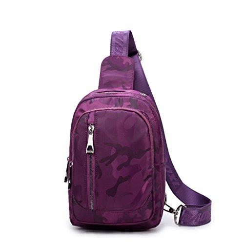 6049c0736687d Frauen Mode Wasserdichte Nylon Leinwand Tasche Umhängetaschen Outdoor  Freizeit Tourismus Umhängetasche Purple