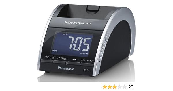Panasonic Rc Dc1eg K Radiowecker Ukw Tuner Apple Ipod Iphone Anschluss 2 6 Watt Rms Schwarz Audio Hifi