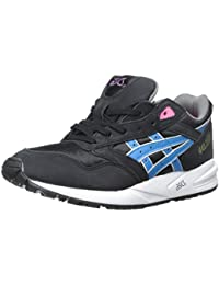 Asics Womens Gelsaga Black Blue Leather Trainers 38 EU