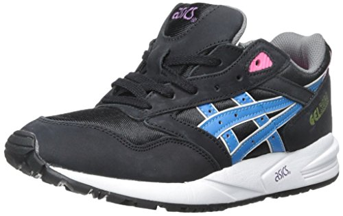 Asics Womens Gelsaga Leather Trainers Black Blue