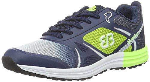 Brütting Streamline, Chaussures de Running Compétition Homme Bleu (Marine/Lemon)