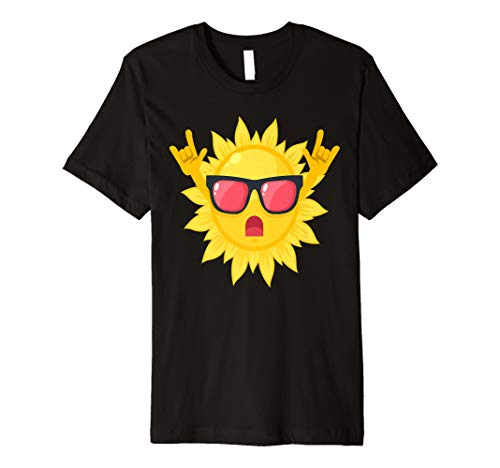 Sommer Rocks Sun Sonnenbrille Rock an Fingern Summertime Shirt