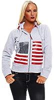 5330 Fashion4Young Damen Kapuzenjacke Kurzjacke Jäckchen Jacke kurze Jacke verfügbar in 4 Farben 4 Größen