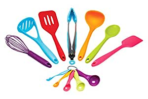 Kitchen craft colour works kitchen tool set pack of 8 for Kitchen craft cookware prices