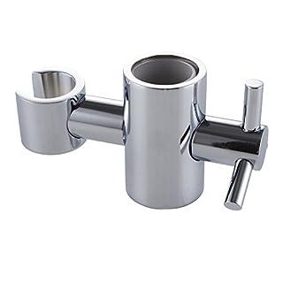 KES PB5 Solid Brass Replacement 25mm Hand Held Shower Bracket for Slider Height & Angle Adjustable Sprayer Holder on Slide Bar, Chrome