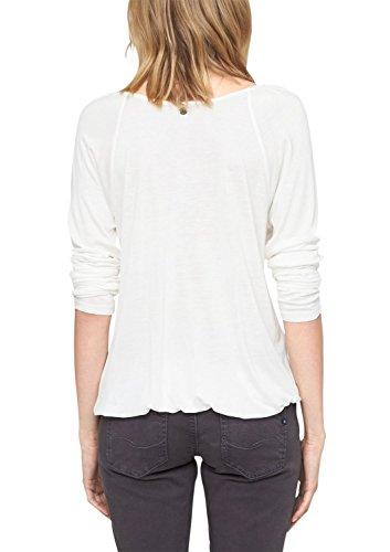 s.Oliver 04.899.31.2695, T-Shirt da Donna, Avorio (Creme 0210), 40