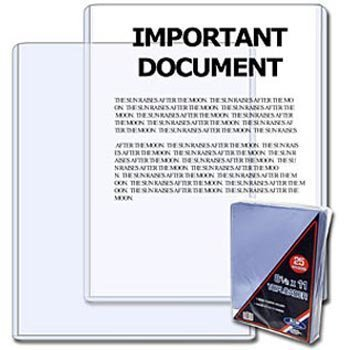 BCW 8.5 x 11 - Document Topload Holder - 25?olders?er?ack (Quantity of 100) by BCW
