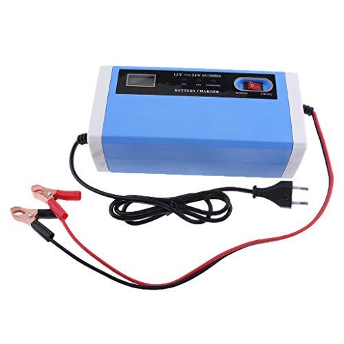 MagiDeal Caricabatteria/Riparazione Batteria A Impulsi Intelligente 12V-24V 10A Per Auto Elettrica UE