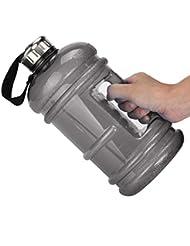 Botella deportiva de agua Feitong, libre de Bisfenol (BPA), con tapa y capacidad de 2,2L, negro