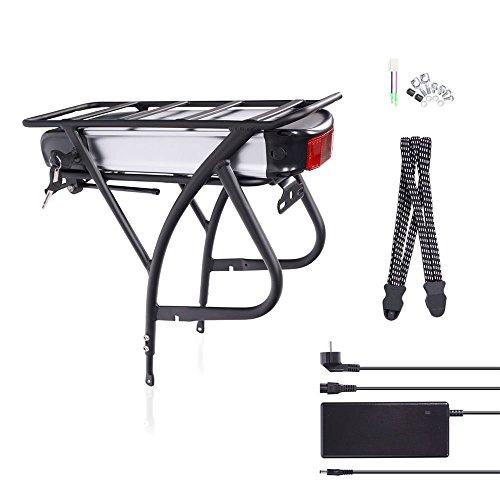 "E-Bike Pedelec Elektrofahrrad Akku Conversion Kit für 26\""-28\"" Zoll Bereifung, 36V 15Ah, 540Wh (R2), Fahrrad Gepäckträger Umbausatz mit Ladegerät und Schlüssel"