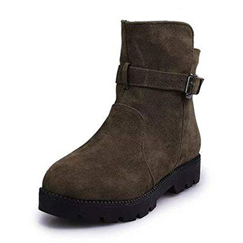 Schnee Stiefeletten Winter Rutschfeste Kurze PlüSch Schnalle Match Solid Martin Stiefel Schuhe ()