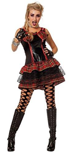 Karneval Rockerin Damenkostüm Größe 44 (Kinder-punk-rocker Kostüm)