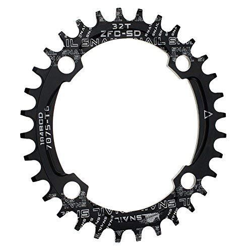 CYSKY 32T Oval Schmale Breite Kettenblatt 104BCD Bike Speed Kettenblatt für die meisten Fahrrad Rennrad Mountainbike BMX MTB
