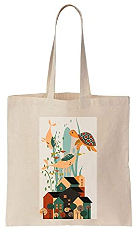 Colorful And Beautiful Sea World Full Of Life Cotton Canvas Tote Bag Baumwollsegeltuch-Einkaufstasche