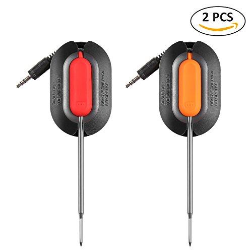 SENDOW Rostfreier Stahl Sonde Zum Digitales BBQ Thermometer- 2 Stück
