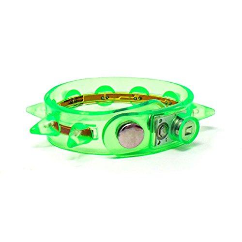 Medium Tanz Kostüm Adult - UltraByEasyPeasyStore Grün LED Armbändern Spike Leuchtendes Damen Herren Erwachsene Kinder Junge Mädchen Festival Party Aufhellen Beleuchten Glühend Tänze Armreif Blinkt