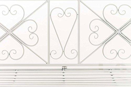CLP Garten-Bank, 2er Schaukelstuhl SILLY, Eisen lackiert, Design nostalgisch antik, ca 120 x 45, Höhe 95 cm Weiß - 6