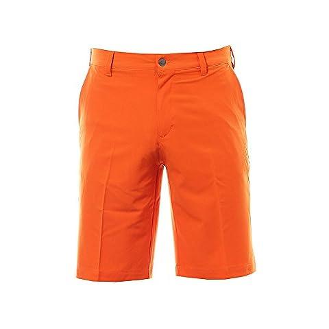 Adidas Golf 2017 Ultimate Classic Woven Shorts Performance Mens Golf Funky Shorts Energy Orange 34