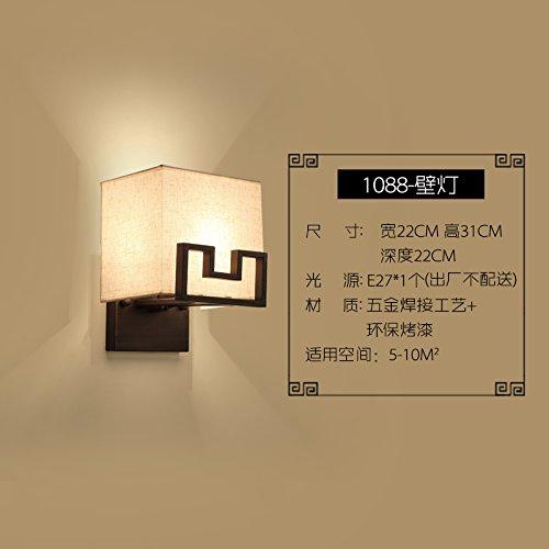 BESPD Moderne Eisen Wandleuchte für Wohnzimmer Restaurant Flur Treppe Schlafzimmer Bett Lampen 25 * 35 * 63 cm Größe der Tabelle -
