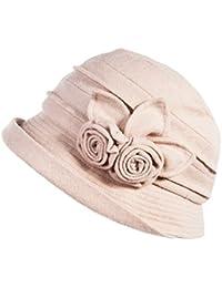 Siggi - Sombrero de bombín para mujer, apilable, estilo vintage años 20, lana y fieltro, para invierno y otoño