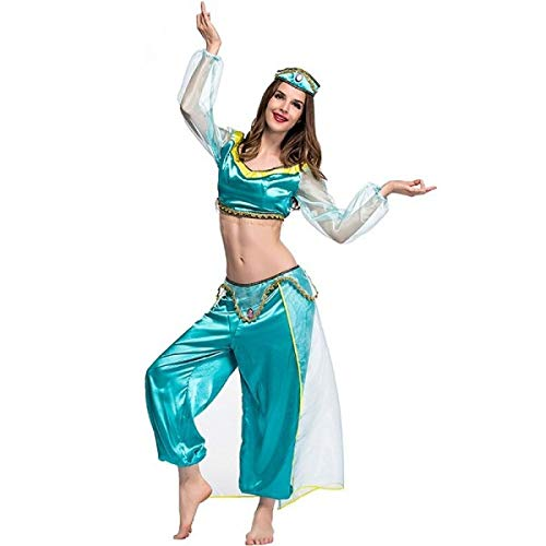 Adult Jasmine Inspired Genie Fancy Dress Costume UK ()