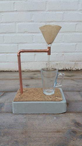 Kaffeezubereiter aus Beton und Kupfer -