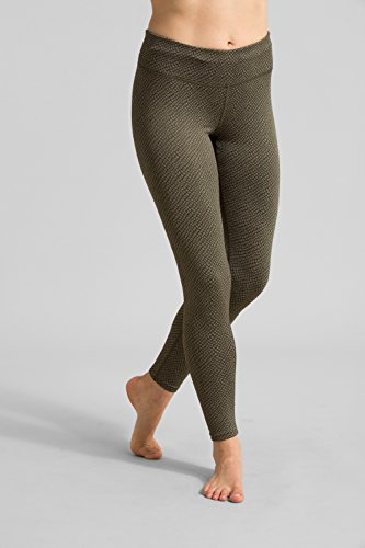 Zakti Leggings Femme Pantalon Sport All Knotted Up Vert de tourbe