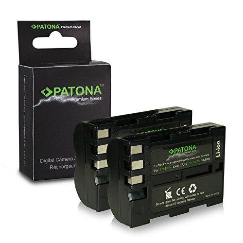 2x Premium Akku EN-EL3E für Nikon D50 | D70s | D80 | D90 | D200 | D300 | D300S...
