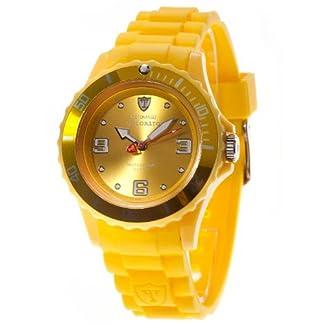 Detomaso DT3007-C – Reloj analógico de Cuarzo para Mujer con Correa de Silicona, Color Amarillo