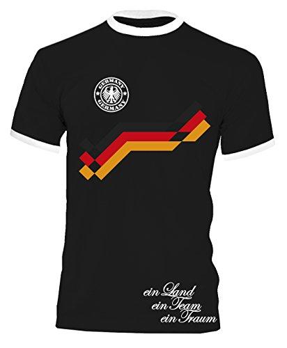 EM 2016 Deutschland Trikot Fanshirt Retro-Look Motiv 10 Herren