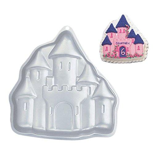 wdyjmall 27,9cm/28cm Castle geformte Aluminium 3D Kuchen Form Backform Dose Kuchen, Pfanne für Hochzeit Geburtstag Jahrestag Weihnachten Neues Jahr Party-Castle