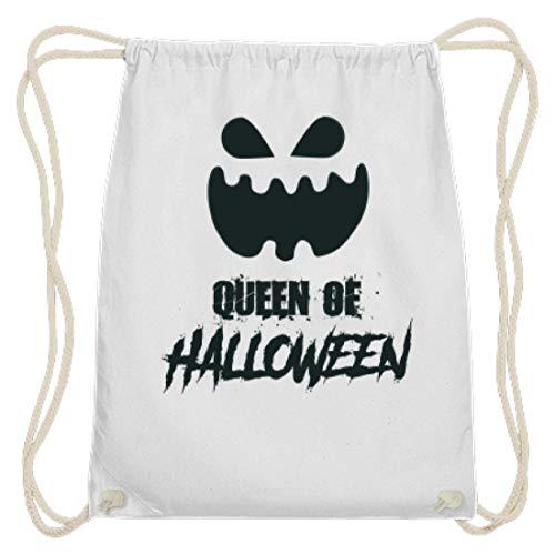 Queen of Halloween - Kürbis - Pumpkin - Happy Halloween - Geschenk - Gift Idea - Fun Gag - Baumwoll Gymsac -37cm-46cm-Weiß