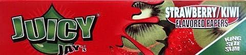 Juicy Jay's KIWI'STRAWBERRY Patch King Size moyens de 12 feuilles de Papier de 32 feuilles de chaque)