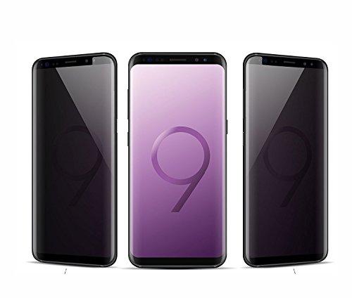 Foxcrypt Premium 3D Anti Spy SCHWARZ Blickschutzfolie Blickschutzfilter Privacy Filter Panzerfolie für Samsung Galaxy S9 SM G960 - 0.2mm  - Sm-filter