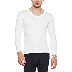 Neva Men Solid Slim Fit Thermal Top White Coloured XXX-Large