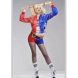 Delights Disfraz de Suleydón de Mujeres Adultas Harley Quinn S (UK 8-10)