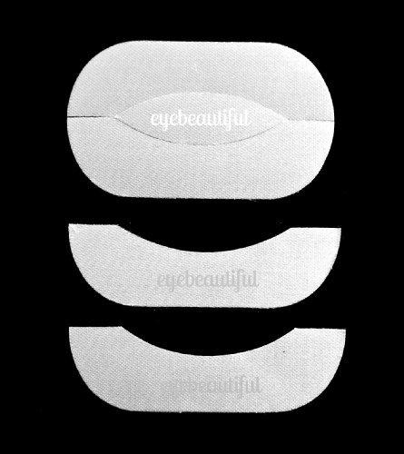 50 Pairs- Eyelash Extension Silk & Lint Free Under Eye Pad Stickers By Eye Beautiful by Eye Beautiful