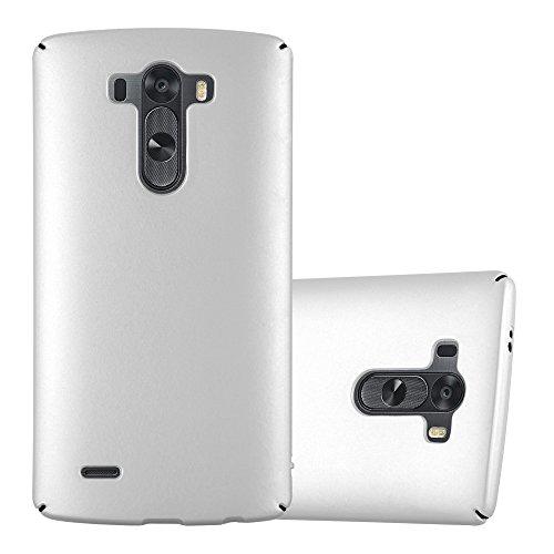 Cadorabo Hülle für LG G3 - Hülle in Metall Silber – Hardcase Handyhülle im Matt Metal Design - Schutzhülle Bumper Back Case Cover