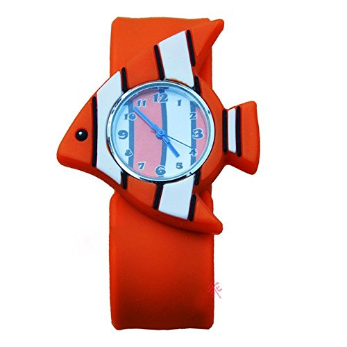 MMRM 3D Animal Mar unisex Niños /bebe reloj de pulsera de silicona reloj de cuarzo Pescado